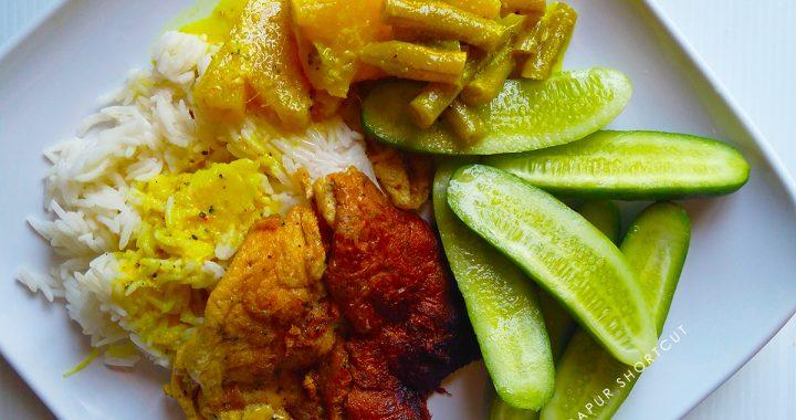 CLEAN EATING 01: NENAS KACANG BUNCIS MASAK LEMAK. SIAP ½ JAM.